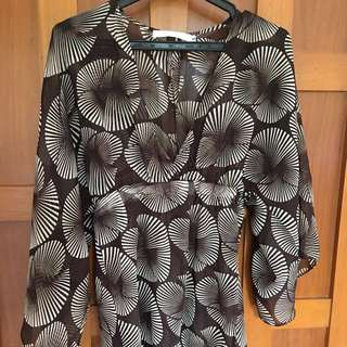 Cole Vintage Brown Printed Cover-up