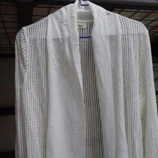 全新白色薄外套