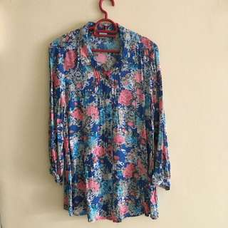 Floral Blouse Shirt @Free Postage
