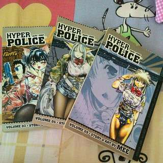 [$12] Hyper Police English Manga 3,5,9