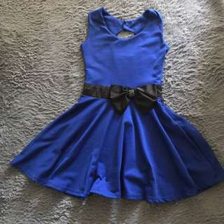 Navy Blue Cute Dress