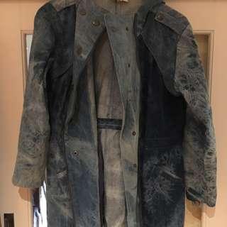 Tigermist Long Denim Jacket Size 8