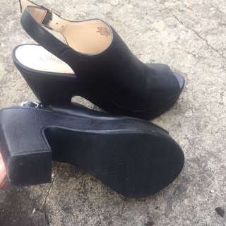 Black Leather Mules Wittner