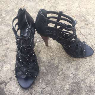 Black Nine West Studded Heel