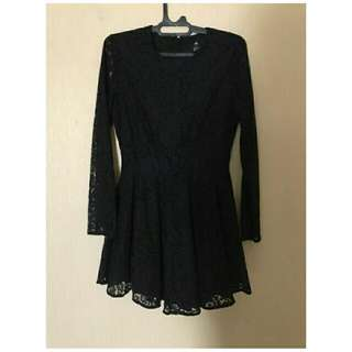 H&m Black Dress (Lace)
