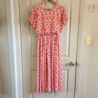 Funky Pattern Chiffon Dress