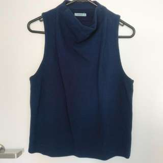 Kookai Holland Tank In Navy