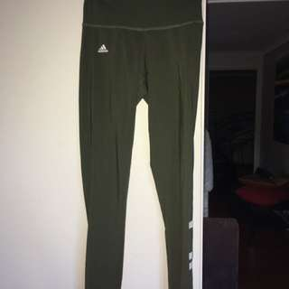 Khaki Adidas Tights
