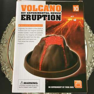 Volcano DIY Experimental Device Eruption!