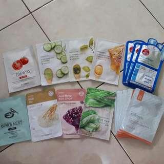 Mask Sheet (Masker Korea) Skin FOOD, THE FACE SHOP, nature Republic, Aquaringer, It's Skin