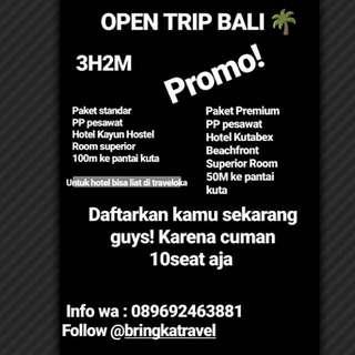 Opentrip Bandung Bali 3D2N
