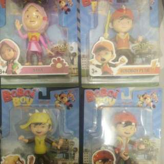 BOBOIBOY FIGURINE SET OF 4 (Yaya, Earth, Lightning And Wind)