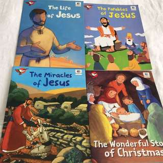 Set Of 4 Books About Jesus
