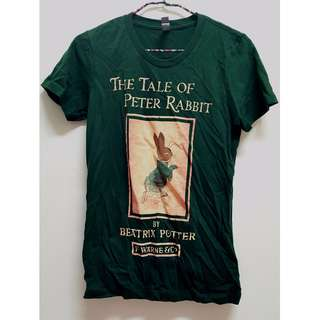 全新 墨綠色 彼得兔 短袖合身棉T
