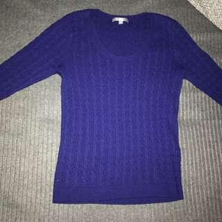 UniQlo Blue Warm Jumper Wool