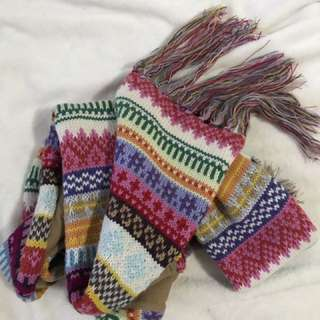 Big Warm Colourful Scarf