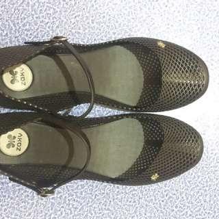 Zaxy Black Sandals