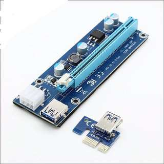 Instock! 4 Capacitor PCI-E 1x to 16x Riser Cables For Mining