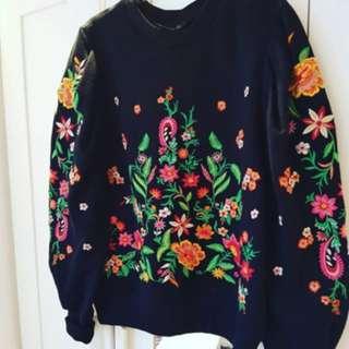 Zara Embroidered Sweater
