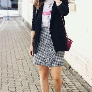 Missguided Frill Gingham Skirt
