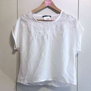 Bnwt Brandy Melville Silky Floral Embroidered Top