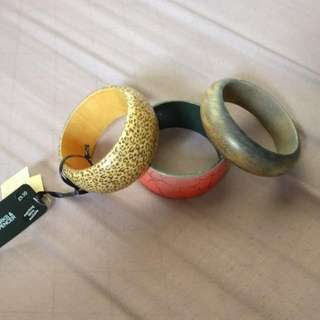 Wooden Bangles Assorted
