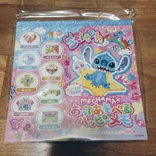 日本 迪士尼 史迪奇 摺紙便條紙