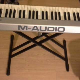 Audio Piano Keyboard With Stand & Cover Case