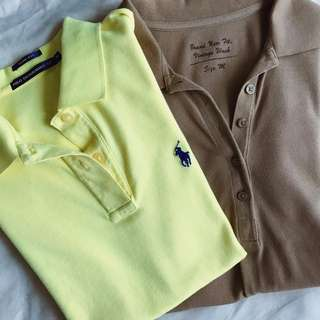 Women's Polo T-Shirts (Ralph Lauren and Uniqlo Vintage Wash)