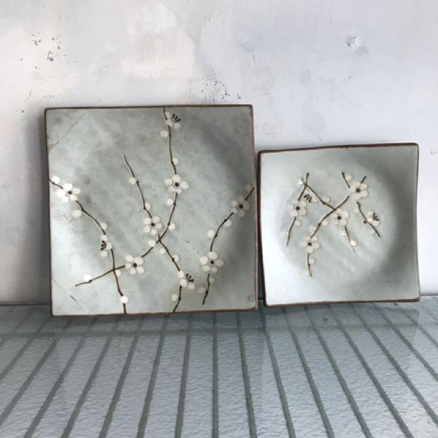 日本白梅方盤16.5
