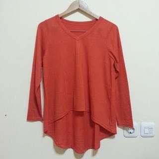 Red Asymmetric Sweater