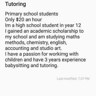 Primary School And Young High School Tutoring