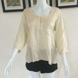H&M Silk Cream Top