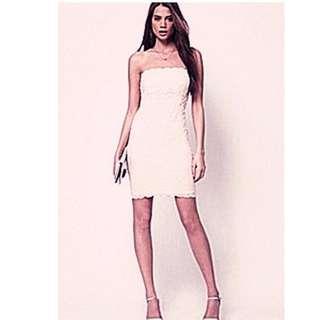 英國品牌 ASOS 平口蕾絲洋裝  ※Q7Y200RW※