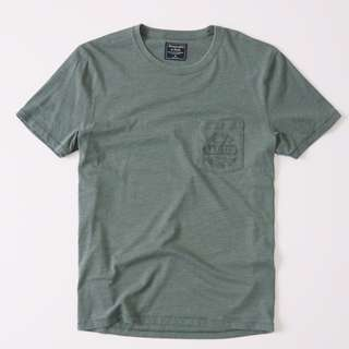 ABERCROMBIE LOGO POCKET GRAPHIC TEE T0873 S