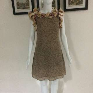 Vintage Leaves Dress