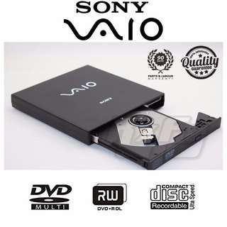 ($24.90) SONY VAIO External DVD Writer Slim Thin DVDRW Drive Portable Burner CDRW DVD-RW USB 2.0 Desktop Notebook Laptop Netbook (Compatible with Windows, Mac, Linux)