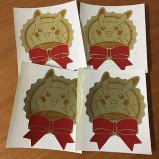 (new) 東京Pokémon Store 比卡超 貼紙 4個