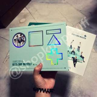 [READY STOCK] BTS 3RD MUSTER [ARMY.ZIP+] BLU-RAY DISK + Official Special Postcard + Free Gifts