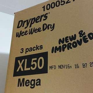 Wee Wee Dry Tape XL