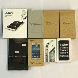 Phone Boxes (iPhone 3GS, 4S, Samsung Galaxy Note 3, Note 4, Sony Xperia C5 Ultra)