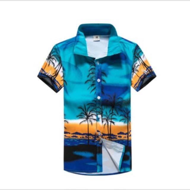 T Shirt Overhemd.2017 Casual Hawaiian Shirts Men Cotton Floral Brand Clothing Short