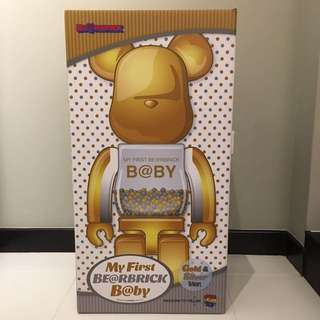 My First Be@rbrick B@by 1000% Gold / Silver