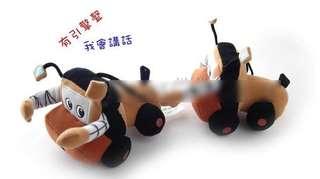 美國帶回--會講話有引擎聲車子造型玩具書--可當推車或安全椅掛飾