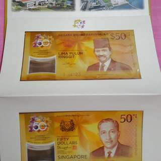 Brunei -Singapore $50 Notes