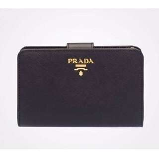 Prada Bi-Fold Saffiano Leather Wallet