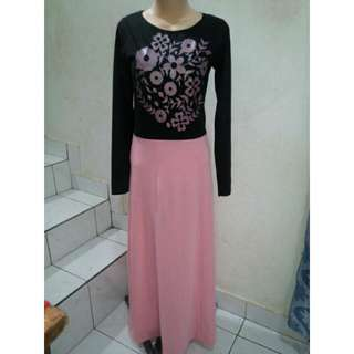 Black-Pink Long dress / Gamis