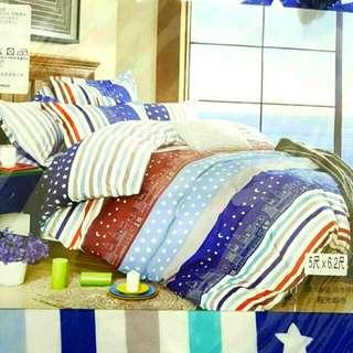 ✌雙人床包枕套3件組(床包+2個枕套)💜💛