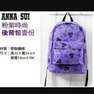 ANNA SUI 粉紫時尚後背包🎒