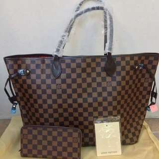 authentic lv bag and wallet